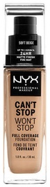 NYX Can't Stop Won't Stop Full Coverage Foundation 30ml Soft Beige
