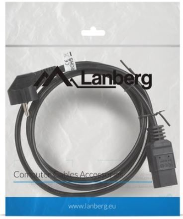 Lanberg Cable Schuko / IEC 320 C19 Black 1.8m