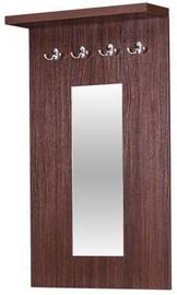 Bodzio Clothes Hanger With Mirror Amadis Walnut
