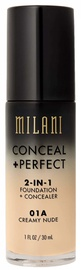 Milani Conceal + Perfect 2in1 Foundation + Concealer 30ml 01A