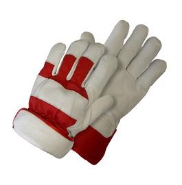 Žieminės odinės pirštinės kietu rankogaliu NL-3066W, 10 dydis