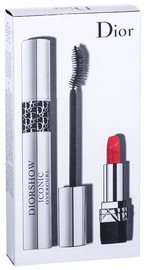 Christian Dior Diorshow Iconic Overcurl Mascara 10ml 90 + 1.5g Lipstick Mini Rouge 999