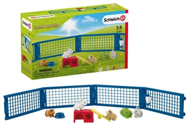 Žaislinė figūrėlė Schleich Farm World Rabbit And Guinea Pig Hutch 42500