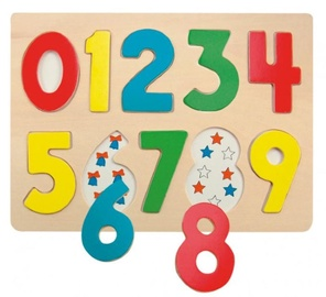 Woodyland Educational Color Puzzle Numbers 10pcs 90325