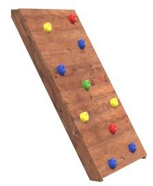 4IQ Wooden Climbing Wall with 10 Climbing Rods
