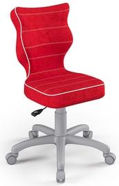 Детский стул Entelo Petit Size 3 VS09, красный/серый, 300 мм x 775 мм