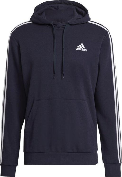 Джемпер Adidas Essentials 3 Stripes Hoodie GK9081 Blue 2XL