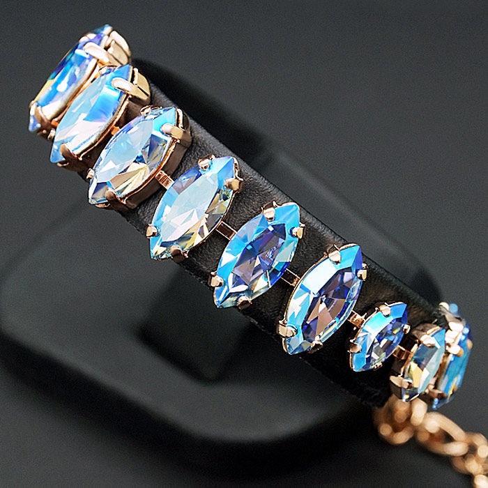 Diamond Sky Bracelet Ornella Light Sapphire Shimmer With Crystals From Swarovski