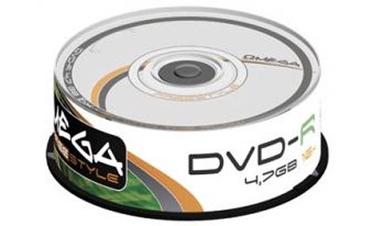 Kompaktinis diskas DVD-R Omega Freestyle, 4,7 GB, 25 vnt.
