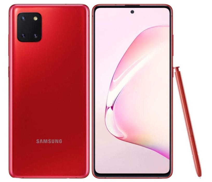 Išmanus telefonas Samsung Galaxy Note 10 Lite raudonas