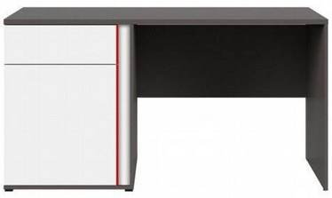Black Red White Graphic Writing Desk White/Red/Wolfram Grey