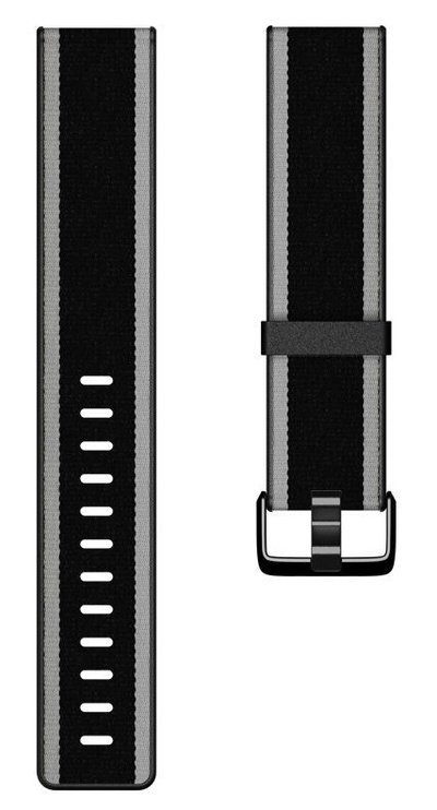Fitbit Versa Woven Hybrid Band Black Gray Large
