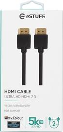 HDMI-KAABEL ESTUFF 2.0 UHD 2M