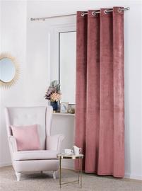 Užuolaida Velvet rožinė, žiedai 140x250cm