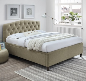 Home4you Zeta Bed 160x200cm Beige