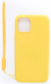 Evelatus Soft Touch Back Case With Strap For Apple iPhone 11 Pro Yellow