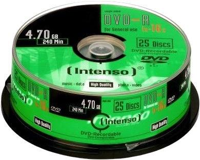 Intenso DVD-R 16x 4.7GB 25pcs. Cake Box 4101654