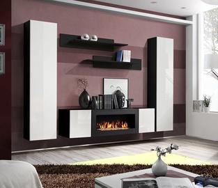 ASM Fly M1 Living Room Wall Unit Set White/Black