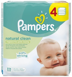 Pampers Natural Clean Wipes 4x64pcs