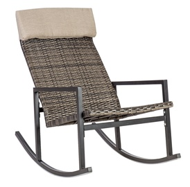 Home4you Wicker Rocking Chair Dark Brown