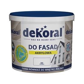 Krāsa fasādēm Dekoral Polinit, 10 l, balta