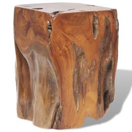 Пуф VLX Solid Teak Wood 243469, коричневый, 30 см x 30 см x 40 см