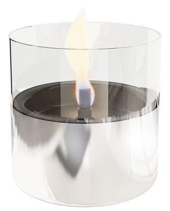 TenderFlame Table Burner Lilly 10cm Silver