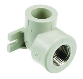 Tvirtinama vandentiekio alkūnė Sanitas, PPR, 16 mm x 1/2 IN vidinis sriegis