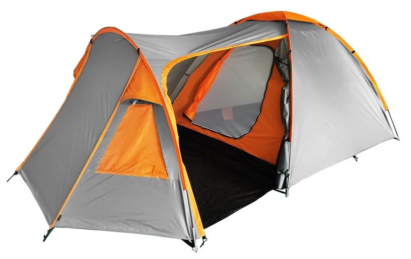 Trīsvietīga telts O.E.Camp RD-T23-3, oranža/pelēka