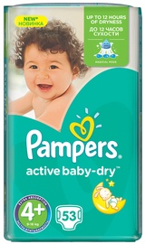 Pampers Active Baby-Dry S4 Plus 53