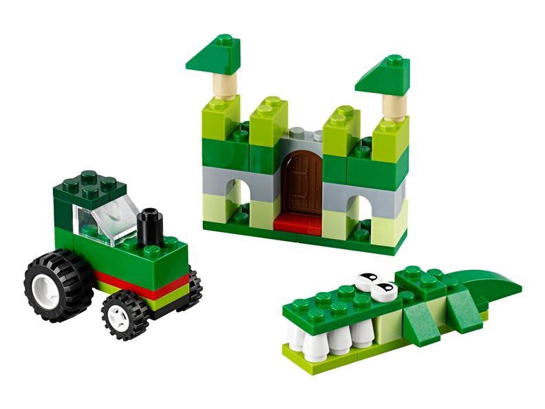 Конструктор LEGO Classic Green Creativity Box Building Set 10708 10708, 66 шт.