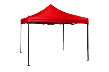 BESK Garden Canopy 3x3m Red