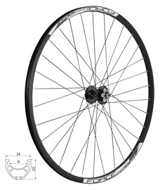 Force Basic Disc Front Wheel 32H 622x19 Black