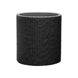 Вазон Keter Small Cylinder 29197833939, черный, 280 мм
