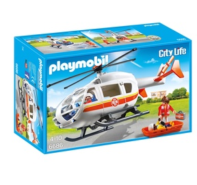Konstruktor Playmobil City Life helikopter