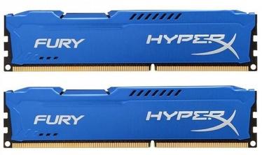 Kingston 16GB DDR3 PC12800 CL10 DIMM HyperX Fury Blue Series KIT OF 2 HX316C10FK2/16