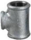 """STP Fittings Cast Iron Reducing 3-Way Connector Zinc 1 1/2""""x3/4"""""""