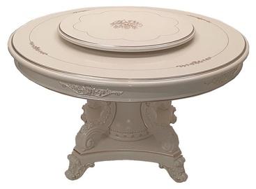 Pusdienu galds MN 8002 White, 1300x1300x750 mm