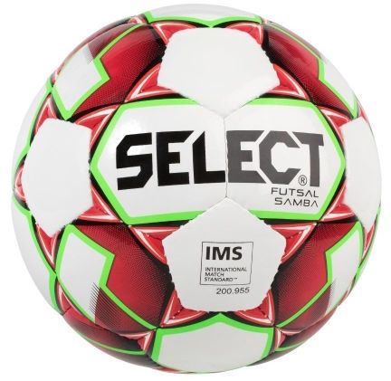 Select Futsal Samba 2018 Football 14791 White/Red Size 4