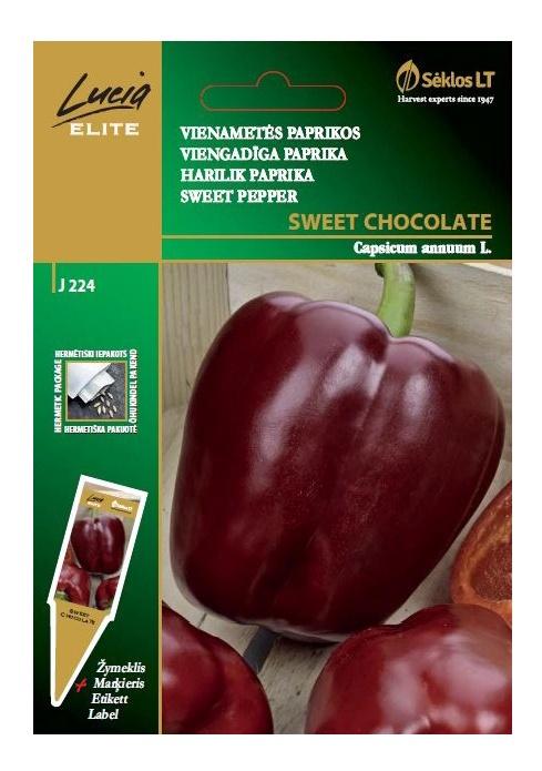 Viengadīgas paprikas sēklas Sweet Chocolate