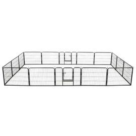 Kaitse VLX Dog Playpen 16 Panels Black, 4000x800x600 mm