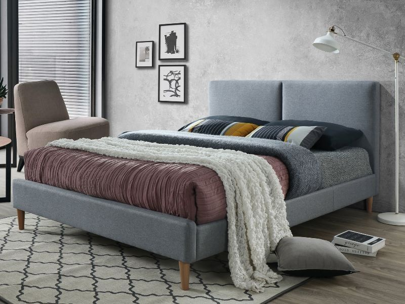 Signal Meble Acoma Bed 160x200cm Gray