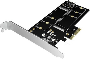 ICY Box IB-PCI209 2x M.2 SSD to SATA III and PCIe 3.0 x4 Host