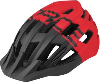 Шлем Force Corella MTB, черный/красный, L/XL, 570 - 610 мм