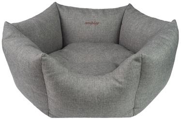 Лежанка Amiplay Palermo Crown Bed L 68x23cm Light Gray