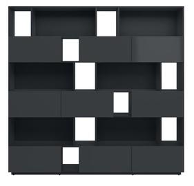 Black Red White Moko Bookstand 200cm Black Anthracite