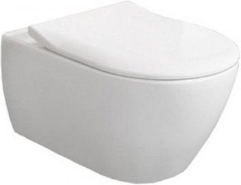 Sienas tualete Villeroy & Boch Subway 2.0 Rimless, ar vāku, 370x560 mm