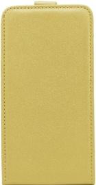 Telone Shine Vertical Book Case For LG K7 X210 Gold