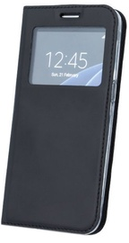 Blun Premium Matt Smart S-View Book Case For Samsung Galaxy J6 Plus J610 Black