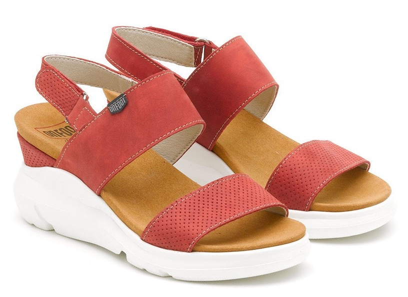 On Foot Dos Tiras Sandals 80100 Red 39